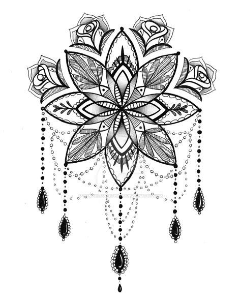nice mandala flower tattoo design