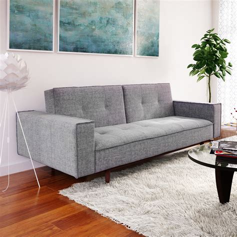 contemporary settee furniture modern contemporary living room furniture allmodern