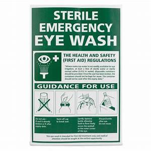 U0026 39 Sterile Emergency Eye Wash Guidelines U0026 39  Vinyl Sign