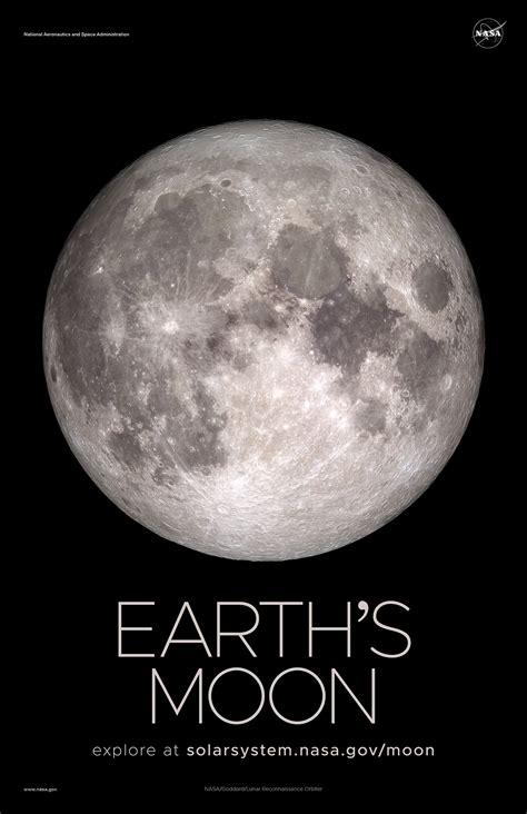 Earths Moon Poster Version A Nasa Solar System