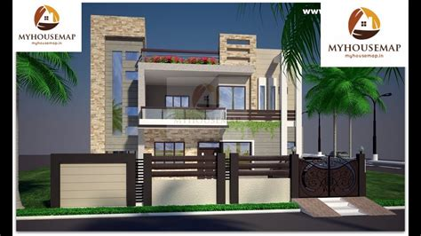 indian home design glass balcony groove tiles modern home