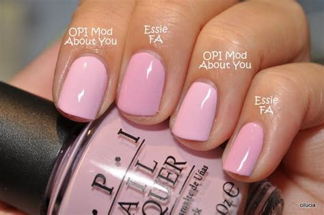 Essie French Affair Vs. Opi Mod About You