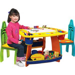 grow n up crayola wooden 3 table and chair set