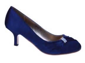 navy blue bridesmaid shoes womens navy blue satin wedding bridal evening court shoes