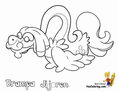 Pokemon Coloring Sun Drampa Pages Zeraora Printables