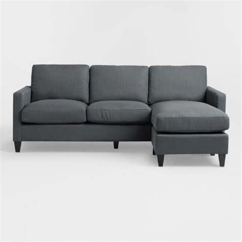 World Market Abbott Sofa by Charcoal Gray Textured Woven Abbott Sofa World Market