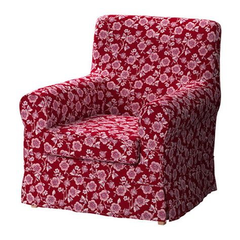 ikea ektorp jennylund armchair slipcover cover brunflo red