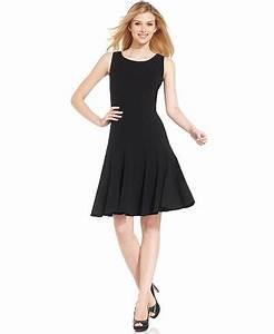 calvin klein petite sleeveless seamed dress dresses With calvin klein dress barn