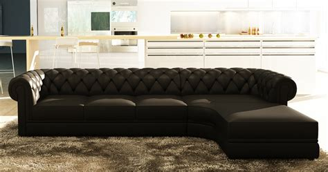 canape d angle chesterfield deco in canape d angle noir capitonne chesterfield avec meridienne chester 3 m noir