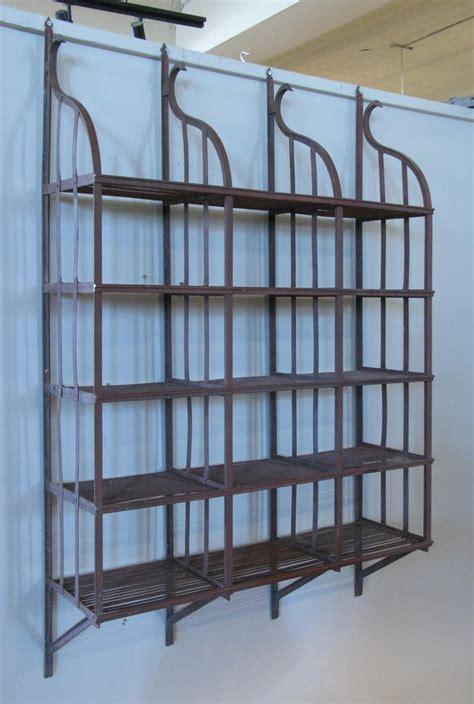 wrought iron wall hanging shelving rack  stdibs