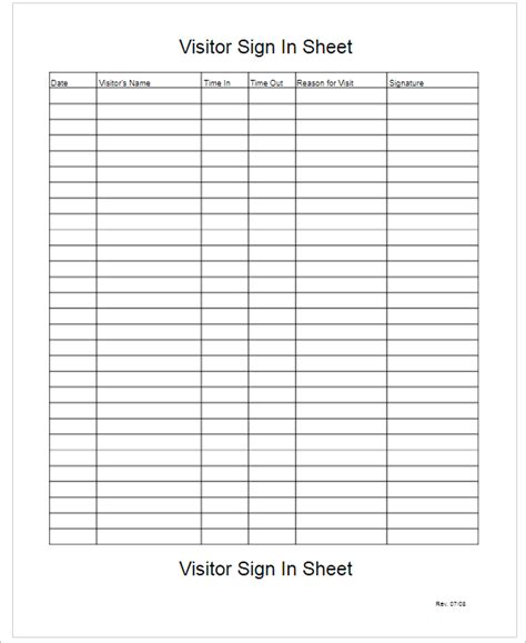 sign  sheet templates   excel documents