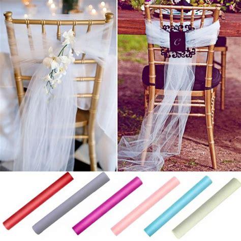 noeud de chaise mariage pas cher noeud de chaise mariage pas cher en tulle 80cm x 25mètres