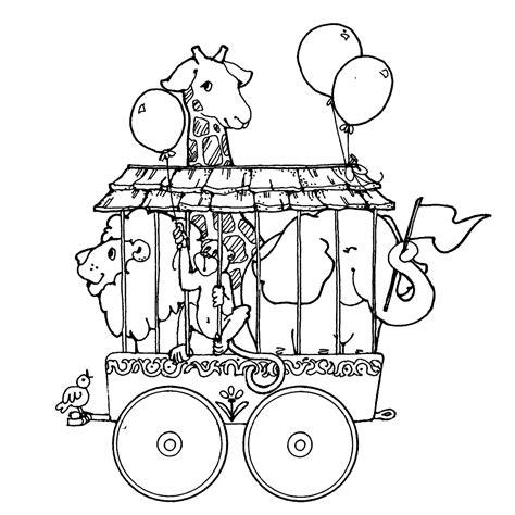 Circus Vlag Kleurplaat by Leuk Voor Circusdieren In Kooi