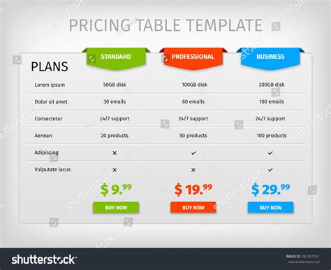 comparison table template html 29 images of comparsion template service quotes