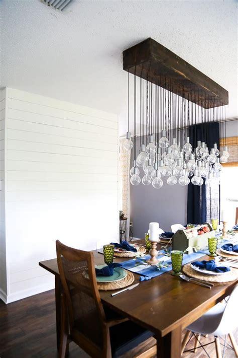 diy multi bulb dining room chandelier love renovations