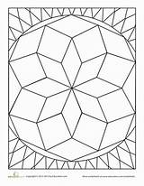 Diamond Shape Coloring Worksheet Baseball Education Kindergarten sketch template