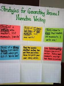 Strategies For Generating Personal Narrative Writing