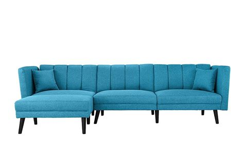 Futon Sectional Sleeper Sofa by Contemporary Fabric Futon Sectional Sofa L Shape Sleeper