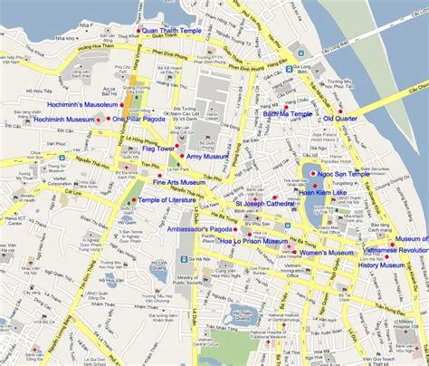 hanoi travel map hanoi tours