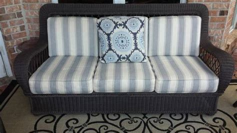 ethan allen all weather vinyl wicker sofa 895 slidell