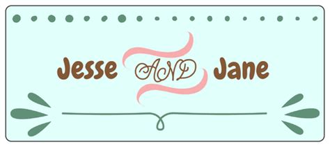 Wedding Name Plate Template by Wedding Water Bottle Labels Label Templates