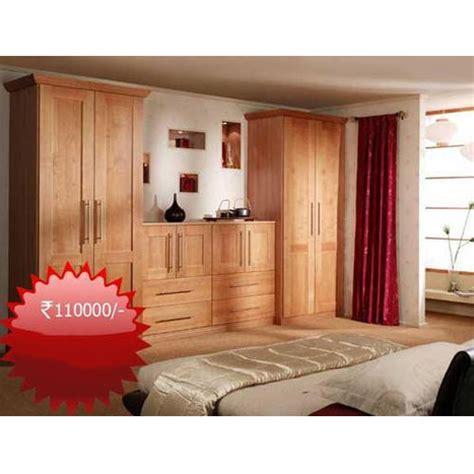 bedroom wooden brown almirah set rs  set popular