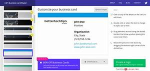 5 best online business card makers you can use for free for Business card creator online