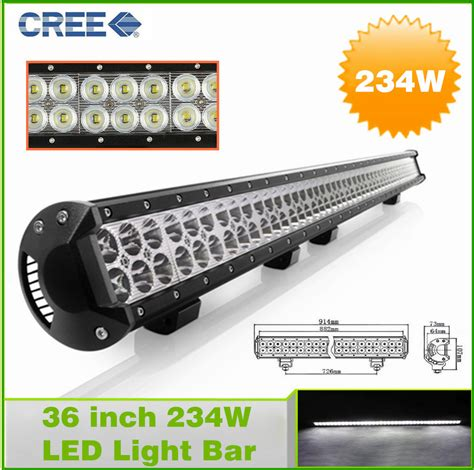 36 inch 234w led light bar for road driving drl
