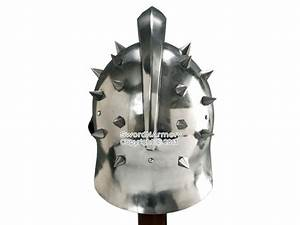 Wearable Gladiator Maximus Roman Spiked Helmet 18 Gauge ...