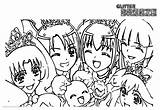 Glitter Force Coloring Pages Clipart Printable Adults sketch template