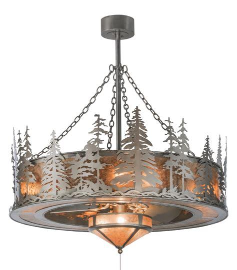 meyda tiffany ceiling fans meyda tiffany 44 quot tall pines chandel air w fan light