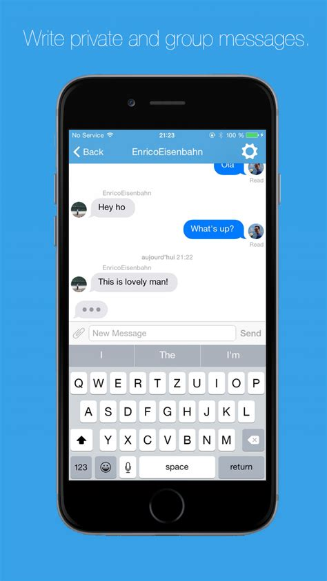 buy social network template app ios android chat