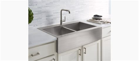 top mount farmhouse kitchen sink k 3944 1 vault top mount kitchen sink with single faucet 8553