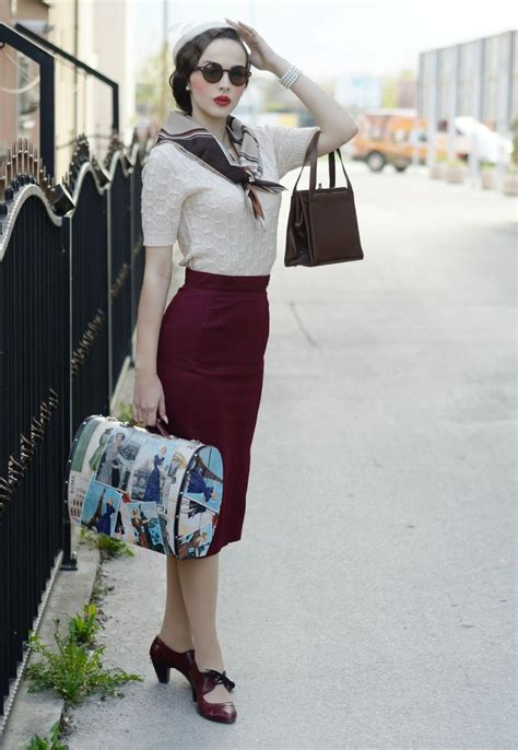 Red Skirt white Blouse and blue navy top scarf The sailor ...