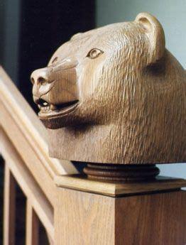 handmade hand carved oak newel post finials  joel