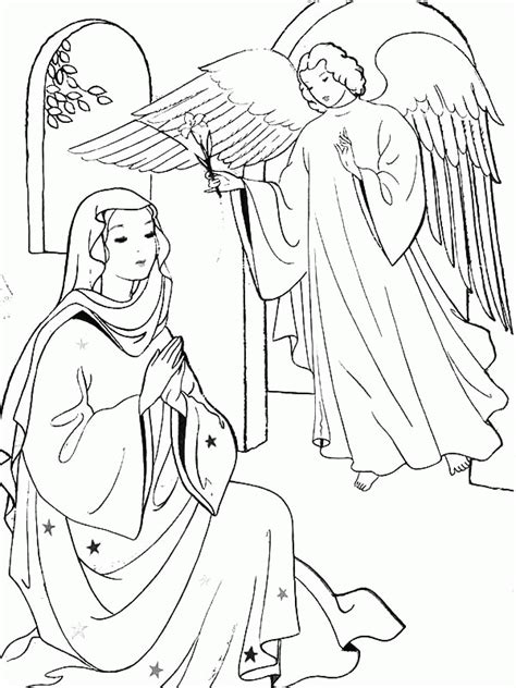 mary   angel coloring page coloring home