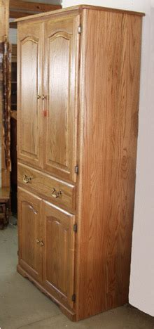amish solid oak pantry cabinets  claybornes  sc