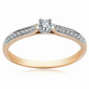 14ct yellow gold diamond ring With 14ct white gold wedding rings
