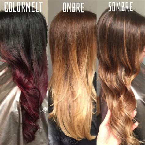 What Is The Difference Between And Brown Hair by The Difference Between Colormelt Ombre And Sombre Hair
