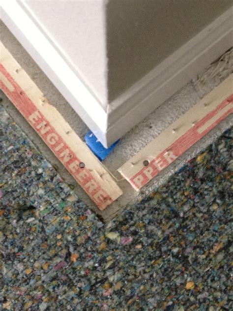 carpet tack strip padding installation pad down ground dream building
