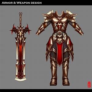 Armor And Weapon Design by Wuduo on DeviantArt