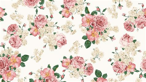 Shabby Chic Flower Wallpaper The Angel Rooms