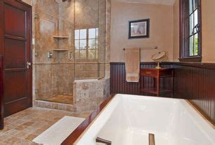 craftsman bathroom tiled shower design ideas pictures