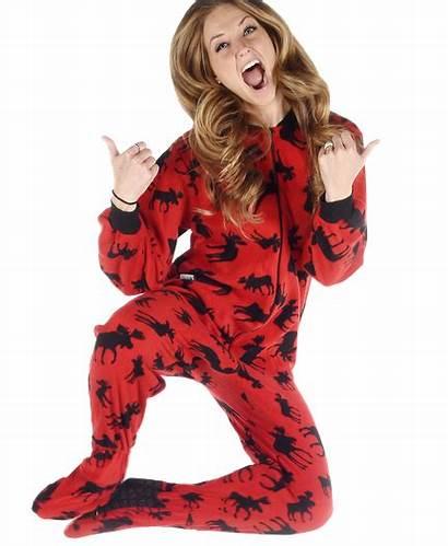 Pajamas Moose Lazyone Footie Cozy Classic Adult