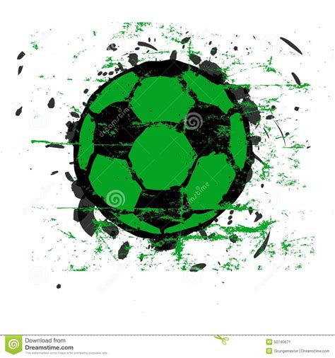 foto de Pallone da calcio Grungy illustrazione vettoriale
