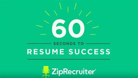 Resume 7 Seconds by Search Tips Advice And Strategies From Ziprecruiter