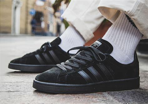 adidas originals campus triple black  foot shots  drop date