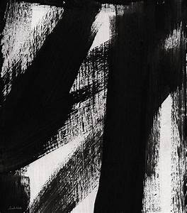 Timber- Vertical Abstract Black And White Painting ...