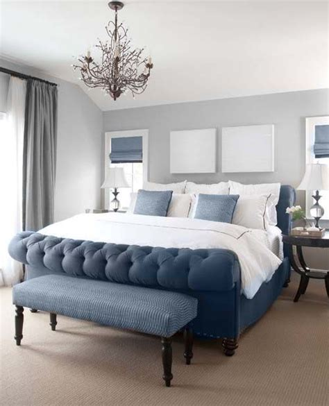 gray upholstered bed best 25 blue bed ideas on blue bedding blue