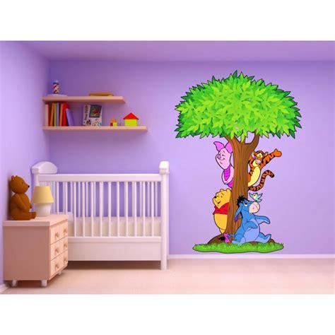 stickers arbre winnie l ourson 15211 stickers muraux enfant